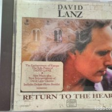CDs de Música: DAVID LANZ RETURN TO THE HEART. Lote 195538751