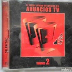 CDs de Música: ANUNCIOS TV CD DOBLE. Lote 195540357