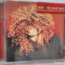 CDs de Música: JANET THE VELVET ROPE. Lote 195540918