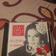 CDs de Música: LOLA FLORES. LA ZARZAMORA. LA COPLA. EDICION DE 1992.. Lote 207333552