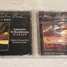 CDs de Musique: JOHAN SEBASTIAN BACH / CONCIERTOS DE BRANDEBURGO 1,2,3 Y 4 / 5 Y 6 / DOS CDS DE LUJO.. Lote 195756093