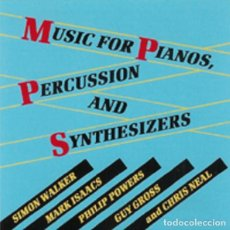 CDs de Música: MUSIC FOR PIANOS, PERCUSSION & SYNTHESIZERS / SIMON WALKER, GUY GROSS, PHILIP POWERS... CD. Lote 195788841
