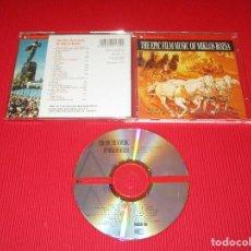 CDs de Música: THE EPIC FILM MUSIC OF MIKLOS ROZSA - CD - FILMCD 170 - SILVA SCREEM - BEN-HUR - QUO VADIS .... Lote 195959112
