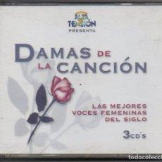 CDs de Música: DAMAS DE LA CANCION - LAS MEJORES VOCES FEMENINAS DEL SIGOL / 3 CD DE 1999 RF-5104. Lote 196012510