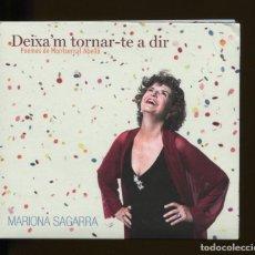 CD de Música: MARIONA SAGARRA. DEIXA'M TORNAR-TE A DIR. POEMES DE MONTSERRAT ABELLÓ CD. Lote 196033088