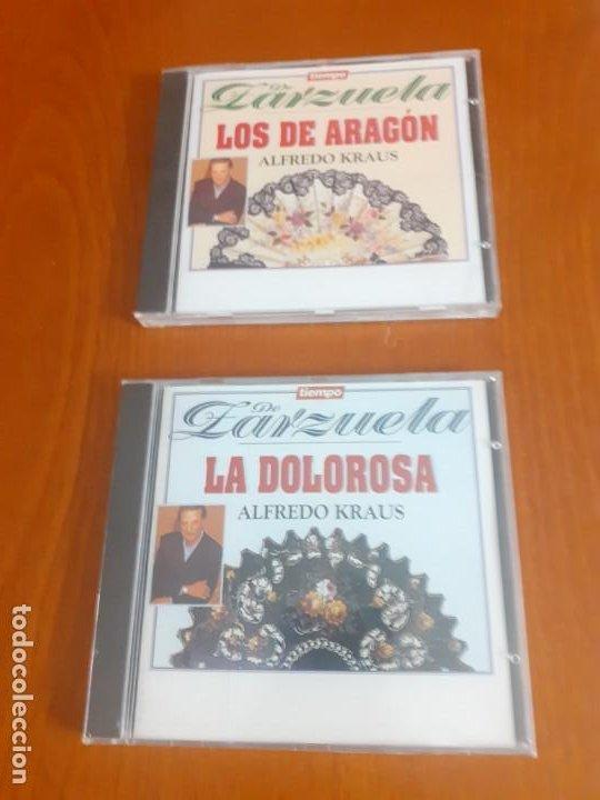 LOTE DE 2 ZARZUELAS DE LA COLECCIÓN TIEMPO SIN ESTRENAR LA DOLOROSA Y LOS DE ARAGÓN ALFREDO KRAUS (Música - CD's Clásica, Ópera, Zarzuela y Marchas)