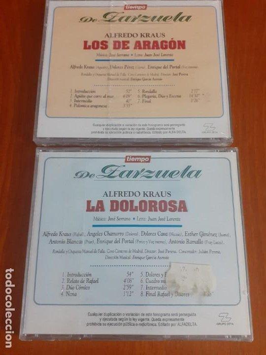 CDs de Música: lote de 2 Zarzuelas de la colección tiempo sin estrenar La Dolorosa y Los de Aragón Alfredo Kraus - Foto 2 - 196114291