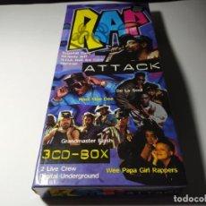 CDs de Música: CD - MUSICA - VARIOS – RAP ATTACK - CAJA GRANDE CON 3 CDS - COMO NUEVOS ( RARO , MUY RARO) BOX SET. Lote 196122292