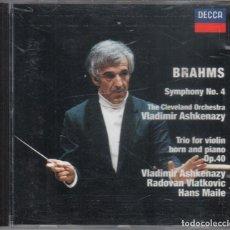 CDs de Música: ASHKENAZY INTERPRETA BRAHMS SYMPHONY N. 3 TRIO OP. 40. Lote 196176110