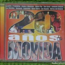 CDs de Música: 20 AÑOS DE MOVIDA - CD 2003 (ALASKA, LOQUILLO, LOS RONALDOS, OLE OLE, HEROES DEL SILENCIO, ILEGALES). Lote 196286061
