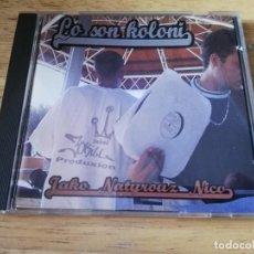 CDs de Música: LO SON KOLONI -NICO, NATYROUZ, JAKO MARON - 2009 RARO CD HIP HOP ELECTRO. Lote 196510078
