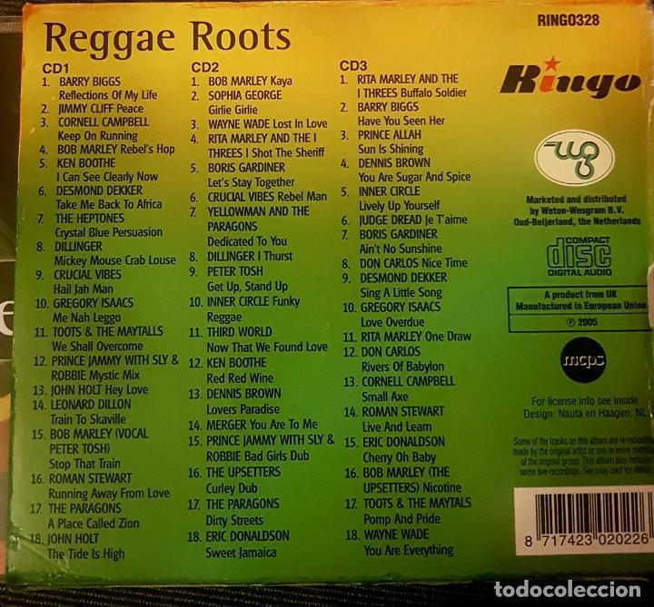 CDs de Música: ** 3 CDS** REGGAE ROOTS - VA (BOB MARLEY, CRUCIAL VIBES, LEONARD DILLON, DILLINGER,HEPTONES...) - Foto 3 - 196564224