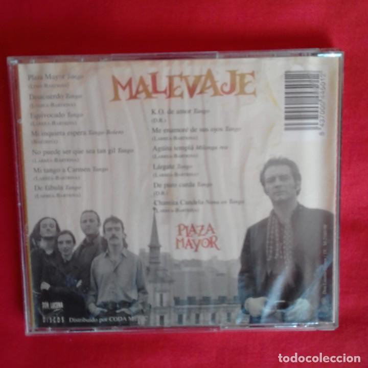CDs de Música: PLAZA MAYOR. MALEVAJE 1998 - Foto 2 - 196734422