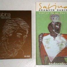 CDs de Música: JOAQUÍN SABINA (2 LIBRETOS + 3 CD) DIARIO DE UN PEATÓN / PALABRAS HECHAS CANCIONES. Lote 196738116