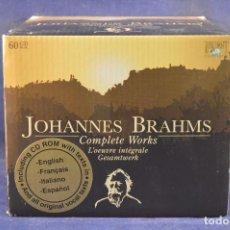 CDs de Música: JOHANNES BRAHMS - COMPLETE WORKS = L'OEUVRE INTÉGRALE = GESAMTWERK - 60 CD. Lote 196757657