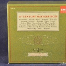 CDs de Música: 19TH CENTURY MASTERPIECES - 100 YEARS OF CLASSICAL MUSIC - 17 CD. Lote 196757942