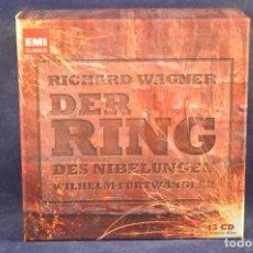 CDs de Música: RICHARD WAGNER - WILHELM FURTWÄNGLER, – DER RING DES NIBELUNGEN - 13 CD. Lote 196758133