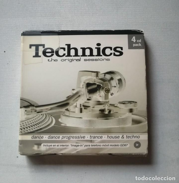 TECHNICS THE ORIGINAL SESSIONS PACK 4 CDS.SIN ESTRENAR. (Música - CD's Techno)