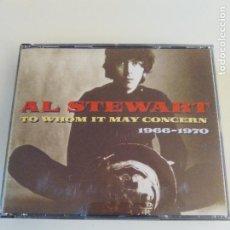 CDs de Música: AL STEWART TO WHOM IT MAY CONCERN 1966 - 1970 2CD ( EMI 1993 ) SUS 3 PRIMEROS ALBUMES COMPLETOS. Lote 197178240