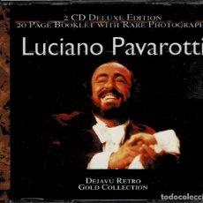 CDs de Música: LUCIANO PAVAROTTI - DEJAVU RETRO GOLD COLLECTION / DOBLE CD DE 2001 RF-5365. Lote 197291073