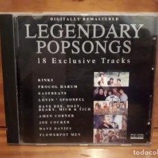CDs de Música: LEGENDARY POPSONGS - VOL 1 - 18 EXCLUSIVE TRACKS - 1993 - COMPRA MÍNIMA 3 EUROS. Lote 197319221