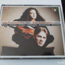 CDs de Música: LIZA FERSCHTMAN VIOLIN. BAS VERHIJDEN PIANO. BRILLIANT 2 CD´S. Lote 197325022