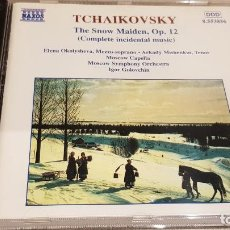 CDs de Música: TCHAIKOVSKY / THE SNOW MAIDEN, OP. 12 / IGOR GOLOVCHIN / CD - NAXOS / DE LUJO.. Lote 197390557