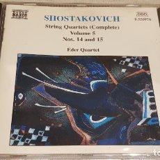CDs de Música: DIMITRI SHOSTAKOVICH / STRING QUARTETS VOLUME 5 / ÉDER QUARTET / CD-NAXOS / DE LUJO.. Lote 197392595