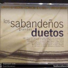 CDs de Música: LOS SABANDEÑOS (GRANDES DUETOS) 2 CD'S + DVD 2003 - SILVIO, AUTE, MERCEDES SOSA, ALFREDO KRAUS.... Lote 197417216