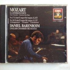 CDs de Música: MUY RARO - MOZART KLAVIERKONCERTE PIANO CONCERTOS - DANIEL BARENBOIM - ENGLISH CHAMBER ORCHESTRA EMI. Lote 197562603