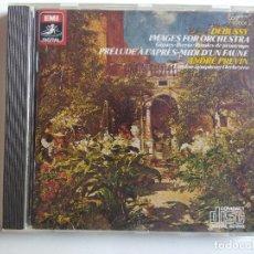 CDs de Música: DEBUSSY IMAGES FOR ORCHESTRA - ANDRÉ PREVIN PRELUDE A L'APRES-MIDI D'UN FAUNE EMI. Lote 197565551