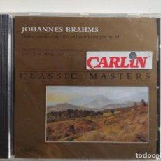 CDs de Música: CLASSIC MASTERS - JOHANNES BRAHMS- ORQUESTA FILARMONICA DE AMSTERDAM - FOLIO. Lote 197568002