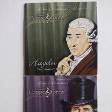CDs de Música: 2 CDS GRANDES COMPOSITORES HAYDN SINFONIA Nº 100 - VERDI O TROVADOR. Lote 197569896