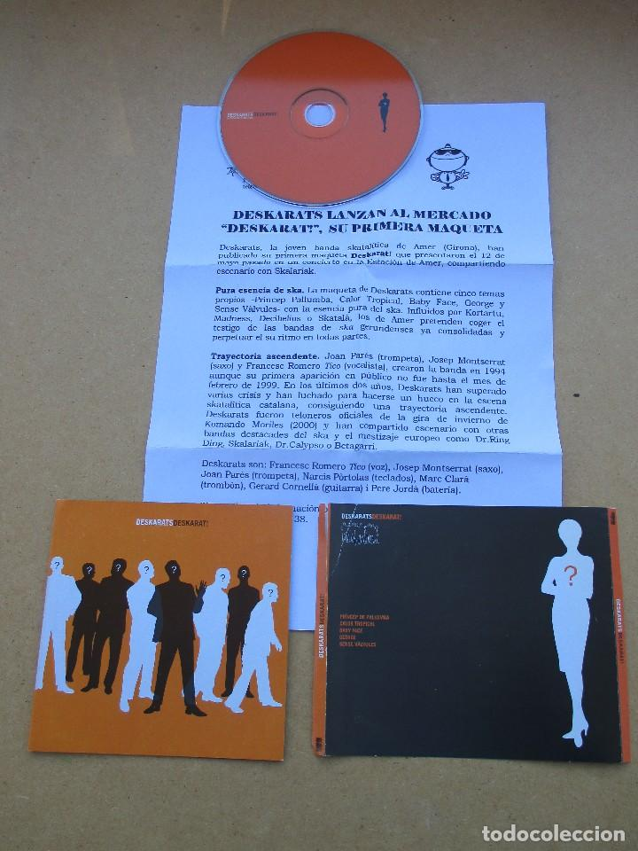 CDs de Música: DESKARATS DESKARAT! DEMO MAQUETA 5 CANCIONES SKA - Foto 3 - 197863890
