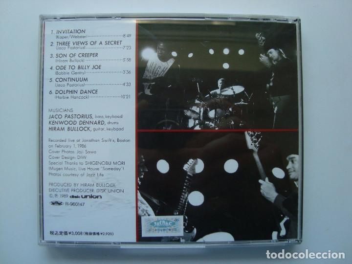CDs de Música: JACO PASTORIUS - PDB, HIRAM BULLOCK, RARO, INEDITO LIVE BOSTON 86 EDT JAPAN COLLECTORS - Foto 5 - 197914231