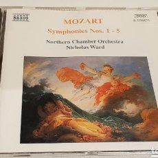 CDs de Música: MOZART / SYMPHONIES Nº 1 - 5 / NORTHERN CHAMBER ORCHESTRA / NICHOLAS WARD / CD-NAXOS / DE LUJO.. Lote 197939198