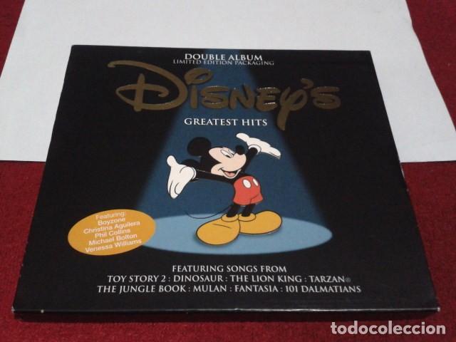 CD DOBLE ALBUM LIMITED EDITION PACKAGING DISNEY´S GREATEST HITS 2001 DEL PARQUE DISNEYLAND PARIS (Música - CD's Bandas Sonoras)