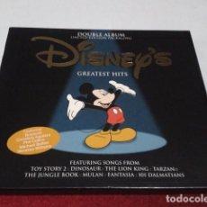 CDs de Música: CD DOBLE ALBUM LIMITED EDITION PACKAGING DISNEY´S GREATEST HITS 2001 DEL PARQUE DISNEYLAND PARIS . Lote 197966401