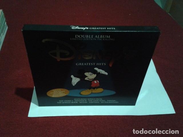CDs de Música: CD DOBLE ALBUM LIMITED EDITION PACKAGING DISNEY´S GREATEST HITS 2001 DEL PARQUE DISNEYLAND PARIS - Foto 3 - 197966401