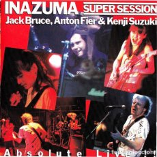 CDs de Música: JACK BRUCE, ANTON FIER & KENJI SUZUKI ‎– INAZUMA SUPER SESSION ABSOLUTE LIVE 1987 !! CD, COLLECTORS. Lote 198042727