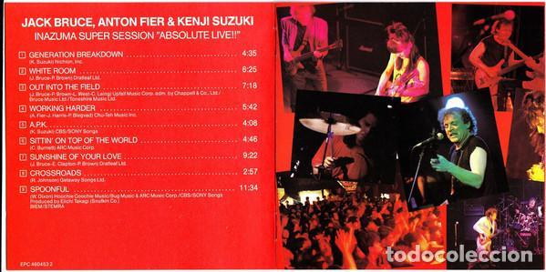 CDs de Música: Jack Bruce, Anton Fier & Kenji Suzuki – Inazuma Super Session Absolute Live 1987 !! cd, collectors - Foto 4 - 198042727