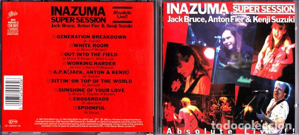 CDs de Música: Jack Bruce, Anton Fier & Kenji Suzuki – Inazuma Super Session Absolute Live 1987 !! cd, collectors - Foto 6 - 198042727