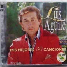 CDs de Música: LUIS AGUILÉ. MIS MEJORES 30 CANCIONES. CD DOBLE COLUMBIA 2-484713. ARGENTINA 1997.. Lote 198045821