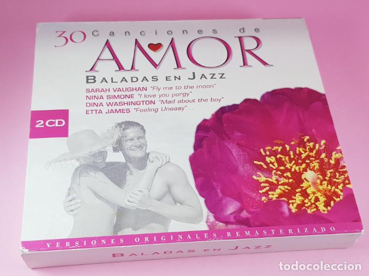 CDs de Música: LOTE 30 CANCIONES DE AMOR-BALADAS DE JAZZ-2 CDS-VER FOTOS - Foto 2 - 198119022