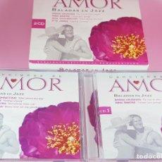 CDs de Música: LOTE 30 CANCIONES DE AMOR-BALADAS DE JAZZ-2 CDS-VER FOTOS. Lote 198119022