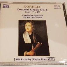 CDs de Música: CORELLI / CONCERTI GROSSI OP. 6 Nº 7-12 / JAROSLAV KR(E)CHEK / CD - NAXOS / DE LUJO.. Lote 198148592