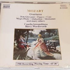 CDs de Música: MOZART / OVERTURES / CAPELLA ISTROPOLITANA / BARRY WORDSWORTH / CD-NAXOS / DE LUJO.. Lote 198237688