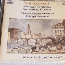 CDs de Música: TCHAIKOVSKY / SERENADE FOR STRINGS-SOUVENIR DE FLORENCE / PHILIPPE ENTREMONT / NAXOS / DE LUJO.. Lote 198237947