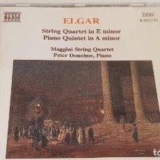 CDs de Música: EDWARD ELGAR / MAGGINI STRING QUARTET / PETER DONOHOE - PIANO / CD-NAXOS / DE LUJO.. Lote 198240475