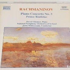 CDs de Música: RACHMANINOV / PIANO CONCERTO Nº 3 / JERZY MAKSYMIUK / CD-NAXOS / DE LUJO.. Lote 198240992